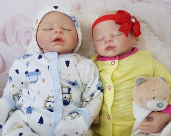 Custom made to order twin reborns Sam and Sera by marissa may girl/boy reborn doll