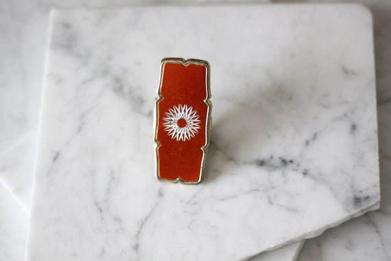 1950s lipstick ring // 1950s lipstick holder // vintage jewlery