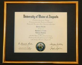DIPLOMA Frame - You Choose Mat and Frame - Graduation