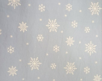 Snowflakes on Twill by Fabric Finders