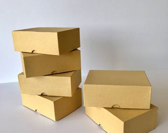 6 Kraft boxes/ size 5x3-1/2x1-7/8 inches