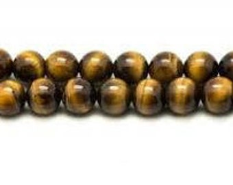 Tiger's eye beads 6 mm wire