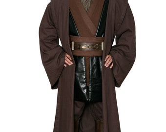 Star Wars Anakin Skywalker Replica Jedi Costume Body Tunic with Replica Dark Brown Jedi Robe
