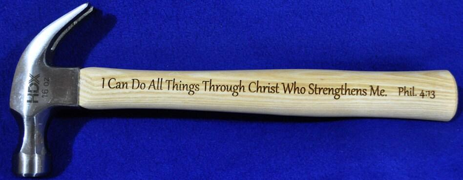 Christian Gift ~ Gift For Pastor ~ Gift For Clergy ~ Church Gifts ~ Engraved Gift For Pastor ~ Engraved Hammer ~ Bible Verse Gift ~ Jesus