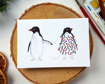 Silly Penguins | Christmas Card Pack (Two Designs)