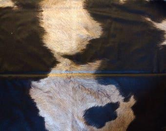 "PUL fabric, diaper fabric, polyurethane laminate fabric,  PUL fabric cowhide print, 32""."