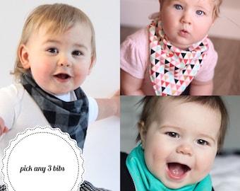 Baby Bandana Bib | Boy Bibdana | Girl Bibdana | Boy Bandana Bib | Girl Bandana Bib | Terry Cloth Bib | Teething Bib | Drool Bib | Dribble