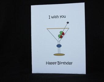 Martini birthday card