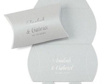 Elegant Silver Shimmer Wedding Favor Boxes