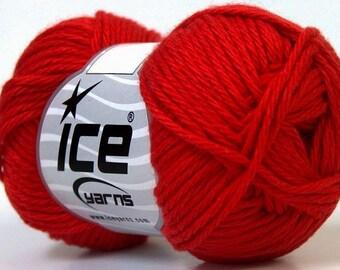 Cotton Red Yarn Knitting Crochet