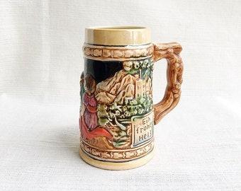 Vintage German beer stein, vintage Mug, heilt allen schmerz, vintage beer steins