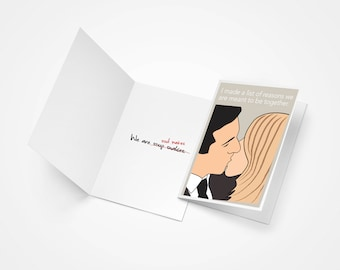 The Office, Michael Scott and Holly Flax Soul Mates Printed Card, Anniversary Gift