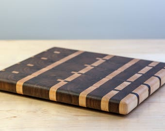 End Grain Cutting Board - Transition Pattern
