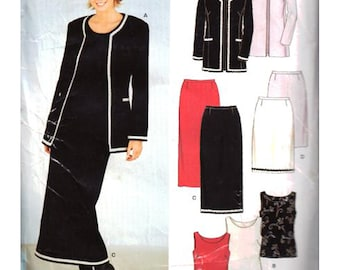 Simplicity Sewing Pattern 6921 Misses Jacket, Top, Skirt   Size:  A  8-18  Uncut