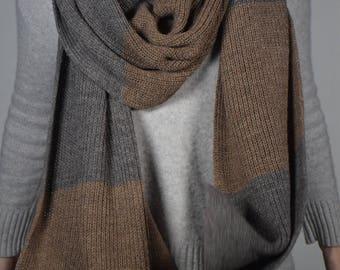 Fine Alpaca scarf grey/Rose Grey