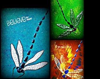dragonfly decor | dragonfly wall decor | dragonfly paintings | dragonflies | dragonfly | dragonfly handpainted  art | dragonfly nature art