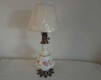 Vintage Hand Painted Accent Lamp