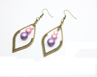 Kit complete dangle Bronze earrings