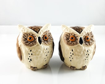 Vintage Hoot Owl Salt and Pepper Shakers