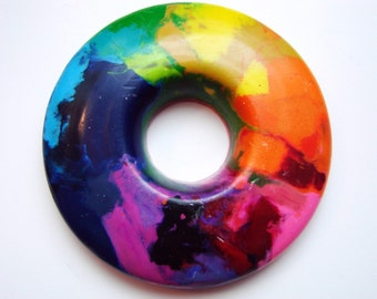 Rainbow Ring - A Rainbow of a Crayon - This Product Was Featured on the Etsy Front Page