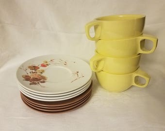 Vintage Melmac Cups and Plates