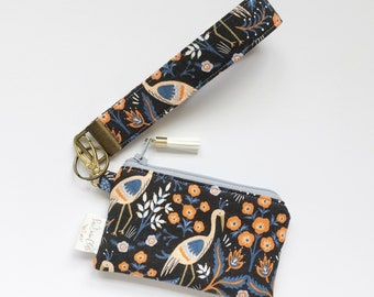 Keychain Pouch // Tapestry in Black by Rifle Paper Co