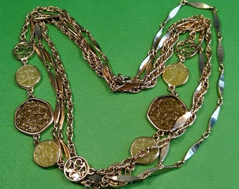 Vintage, Sarah Coventry, Taste of Honey Chains. Gently Used.  Lot N