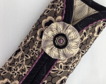 Quilted Eyeglass Case in Downton Abbey Fabric