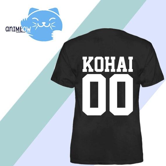 Senpai & Kohai Jersey Style 00 Anime T-Shirts Combo Couples Matching Shirts mkDNN