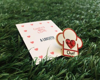 Enamel Pin Cooking With Love