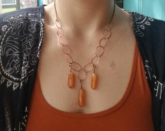 Triple Carnelian Necklace