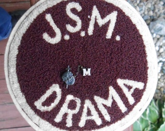 Vintage J Sterling Morton High Drama Patch and Sterling Silver Drama Pin