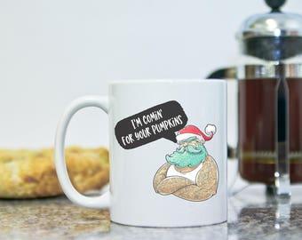 À venir pour votre tasse potirons Mug - Mug de chute drôle - Hipster Santa