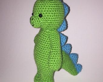Dinosaur Amigurumi Green and Blue Photo Prop