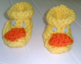 Quack Quack Crochet Duck Booties - Item CBJ041