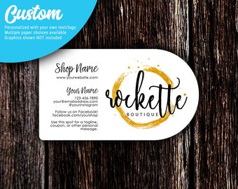 Business Cards | Half Circle Business Cards | Custom Business Cards | Calling Cards | Social Media Cards | SH505 01
