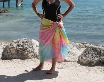 Just Beachy ... hand painted silk sarong, pareo