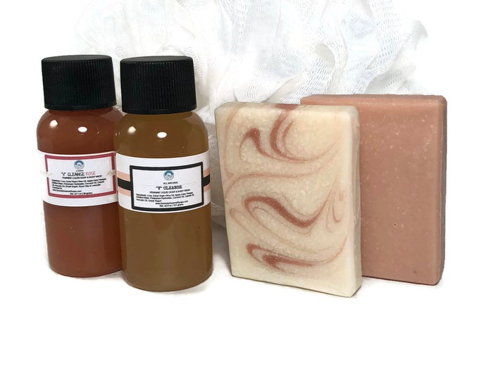V Cleanse All Natural Feminine Soap Bar and Body Wash with Apple Cider Vinegar Sampler