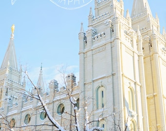 Salt Lake Temple - Digital Download - Cheerful and Bright Fine Art Photography