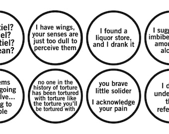 SPN Quote + Protection Squad Badges (more inside) - 50% OFF