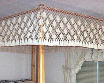 Queen Size Lover's Knot Fishnet Canopy