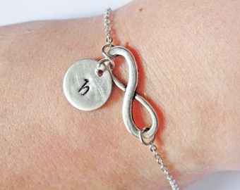 Personalized Infinity Bracelet with Initials, Infinity Mother Bracelet, Infinity Jewelry, Infinity Initial Bracelet, Monogram, Mom Bracelet