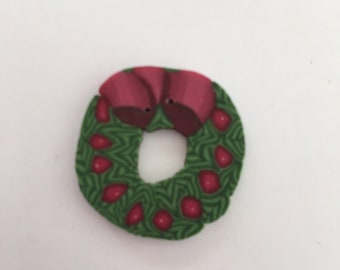 Wreath Button from Just Another Button Company nh1025.L