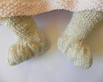 Baby's Champagne Stockings Knitting Pattern PDF