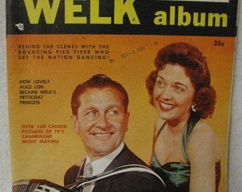 "1956 Lawrence Welk Album w/alice con on cover/over  100pics 10-3/4"" x 8-1/2"" memory lane"