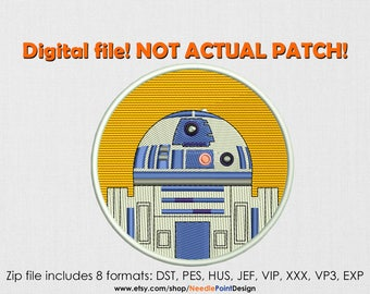 INSTANT DOWNLOAD - Robot machine embroidery design. Embroidery file