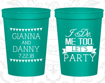 Personalized Plastic Cups, Wedding Cups, Plastic Cups, Stadium Cups, Personalized Cups, Wedding Stadium Cups, Custom Plastic Cups (C363)