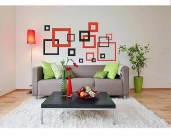 Wall sticker - Squares (097n)
