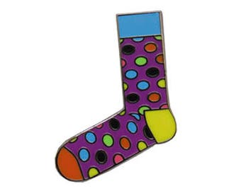 Happy Socks 1 Hard Enamel Pin