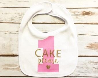 First Birthday Bib - Birthday Bib - First Birthday Outfit - Cake Smash Bib - 1st Birthday Bib - Personalized Bib - One Bib - First Birthday